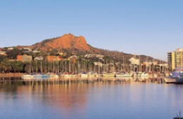 "Iconic ""Castle Hill"" in Townsville dominates the cities sky line and looks stunning at dawn and is a great place to be for the sunset."